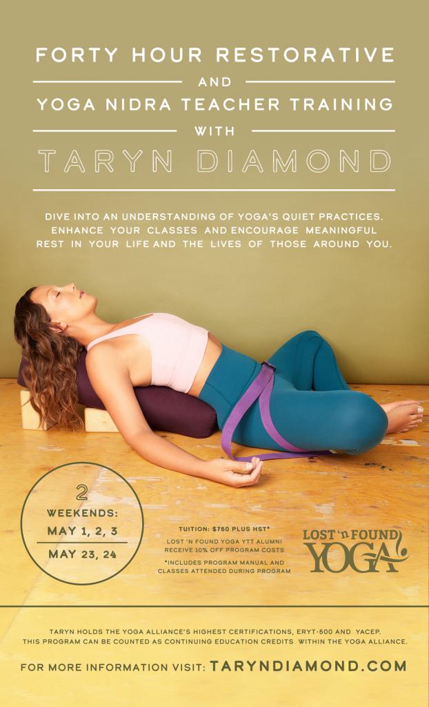 40 Hour Restorative Yoga Nidra Teacher Training Lost N Found Yoga St Catharines Yoga Pilates Studio